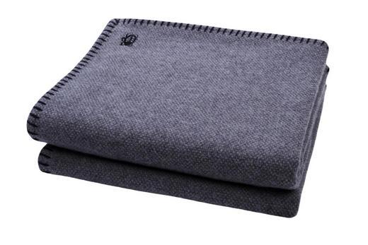 WOHNDECKE 150/200 cm Anthrazit, Schwarz - Anthrazit/Schwarz, Basics, Textil (150/200cm) - Zoeppritz