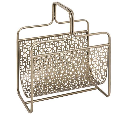 ZEITUNGSSTÄNDER - Bronzefarben, Metall (37/45/22cm)