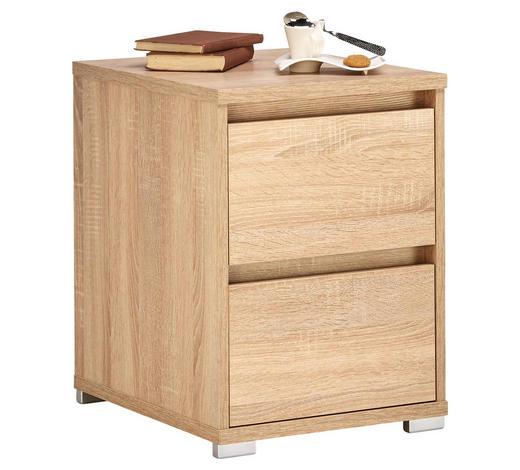 KOMMODE 40/55/48 cm - Alufarben/Sonoma Eiche, MODERN, Holzwerkstoff/Kunststoff (40/55/48cm) - Carryhome