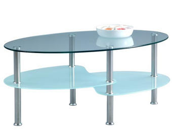 KLUBSKA MIZA, 90/40/55 cm krom, prozorna - krom/prozorna, Design, kovina/steklo (90/40/55cm) - Xora