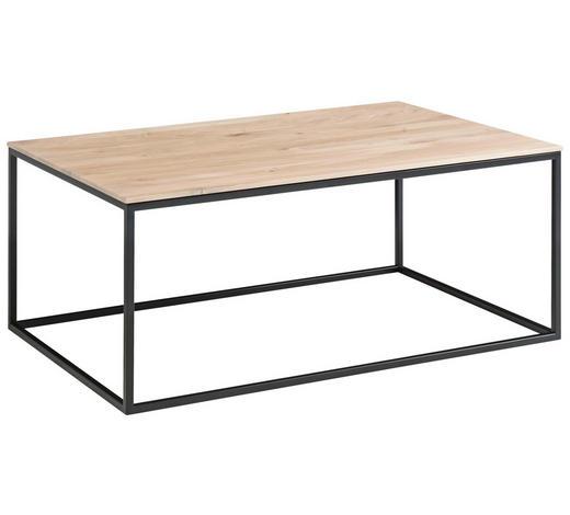 COUCHTISCH in Holz 100/60/42 cm - Eichefarben/Schwarz, Design, Holz/Metall (100/60/42cm) - Novel