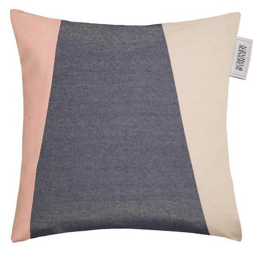 KISSENHÜLLE Grau, Hellrosa, Naturfarben 48/48 cm - Hellrosa/Naturfarben, Basics, Textil (48/48cm) - Schöner Wohnen