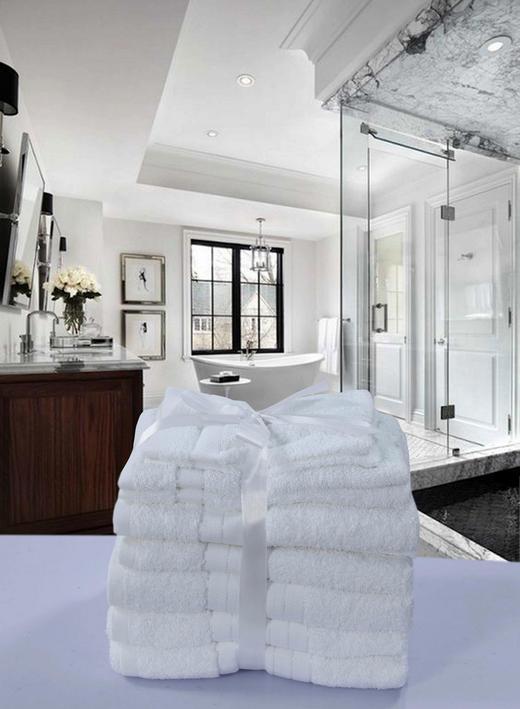 FROTTIERSET 8-teilig - Weiß, Textil