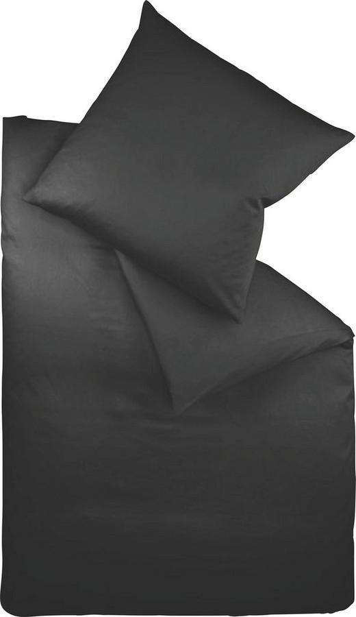 BETTWÄSCHE Makosatin Schwarz 155/220 cm - Schwarz, Basics, Textil (155/220cm) - Fleuresse