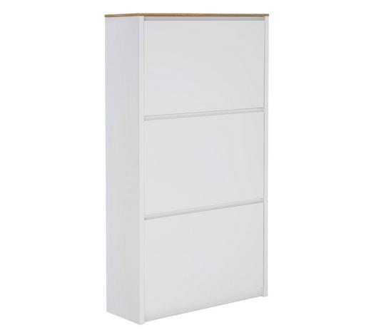 SCHUHKIPPER 69,6/127,5/24,8 cm - Eichefarben/Weiß, Design, Holzwerkstoff (69,6/127,5/24,8cm) - Carryhome
