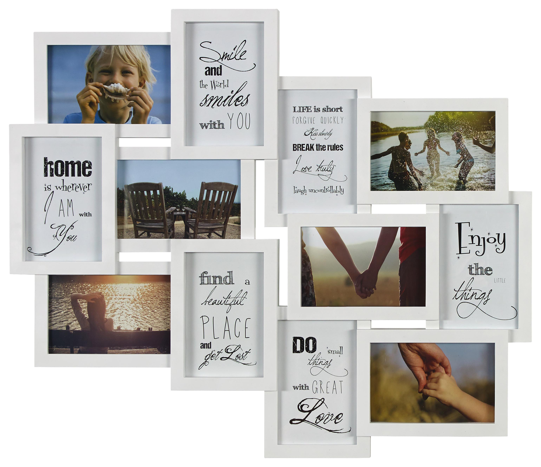 weiss Fotorahmen Collage Gallerie Multirahmen Bilderrahmen für 9 Bilder