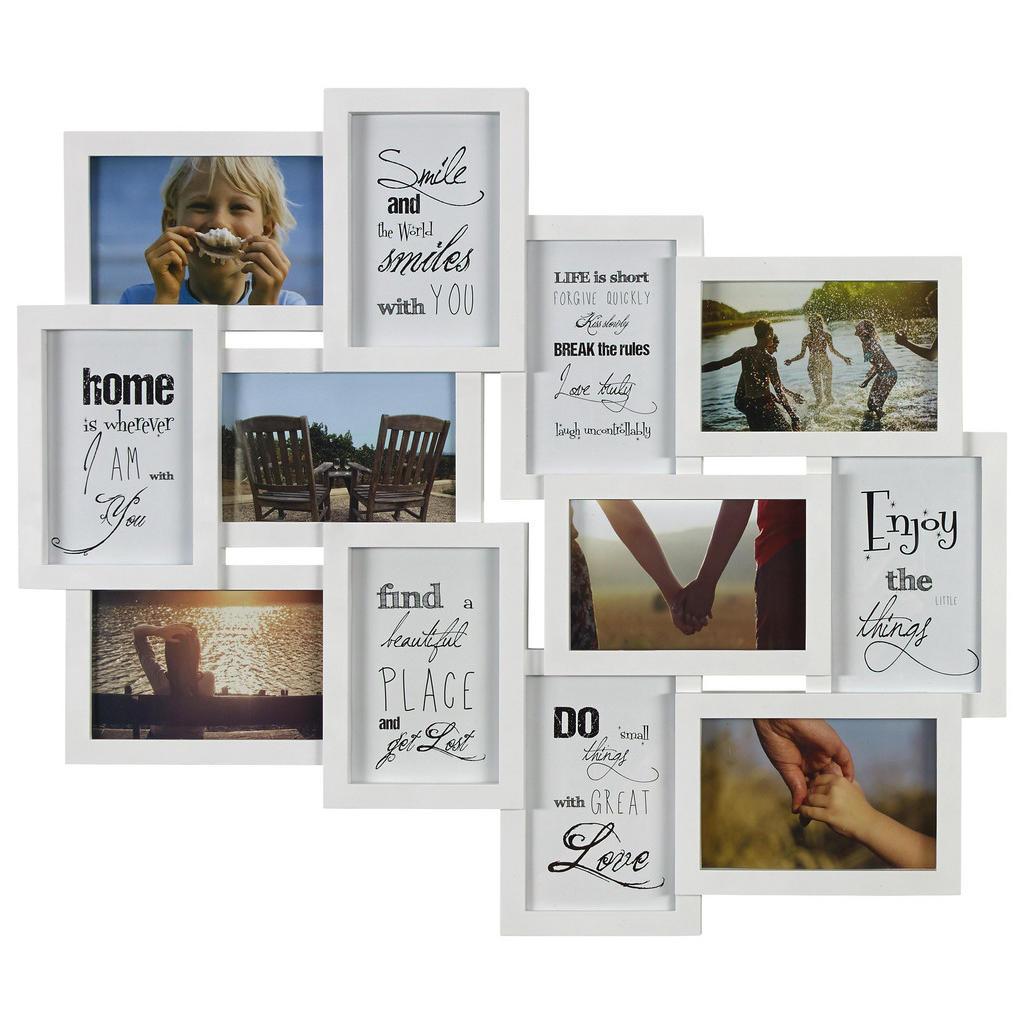 XXXL COLLAGEN-BILDERRAHMEN Weiß   Dekoration > Bilder und Rahmen > Rahmen   Weiß   Glas