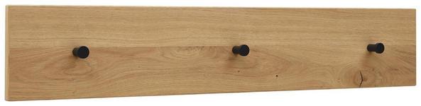 HAKENLEISTE - Eichefarben/Anthrazit, Design, Holz/Metall (80/15/2cm) - Dieter Knoll
