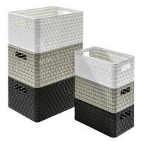 KORB - Weiß, Basics, Kunststoff (32,8/23,8/16cm) - Rotho