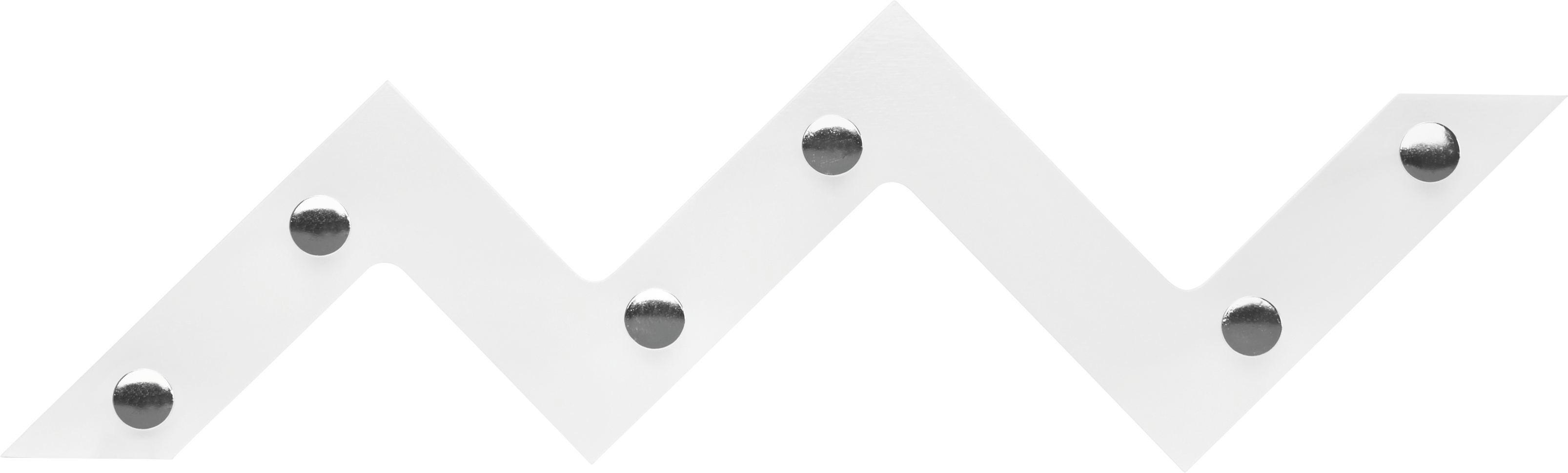 GARDEROBA ZIDNA - bijela/boje kroma, Design, drvni materijal/metal (56/34/3cm) - LESNINA-XXXL