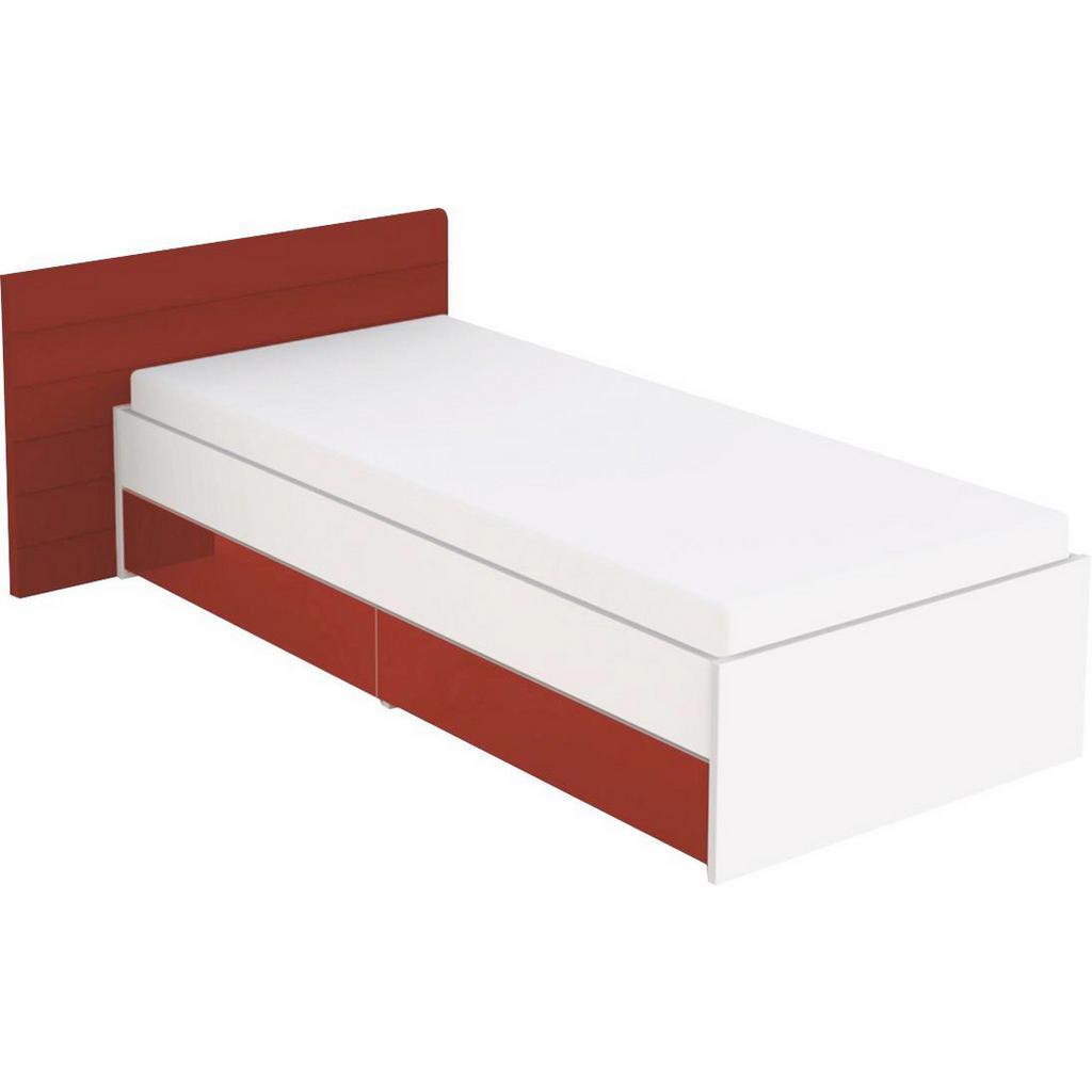 Jugendbett in Weiß und Rot von Welnova
