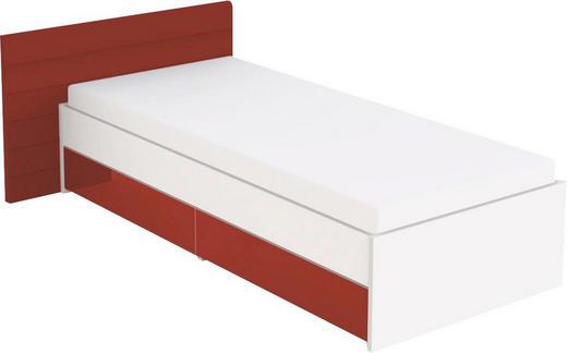 KINDER-/JUNIORBETT Rot, Weiß - Rot/Weiß, Design, Holzwerkstoff (90/200cm) - Welnova