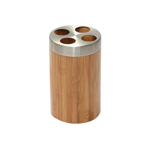 ZAHNBÜRSTENHALTER - Holz/Metall (11cm)