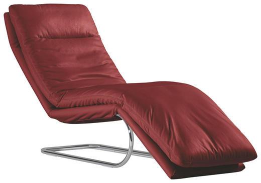 LIEGE Echtleder Rot - Chromfarben/Rot, Design, Leder/Metall (65/101/158cm) - Chilliano