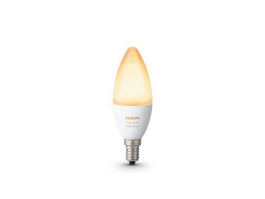 LED-LEUCHTMITTEL HUE WHITE  E14 40 W - Weiß, Design, Kunststoff (3,9/11,7/3,9cm) - Philips
