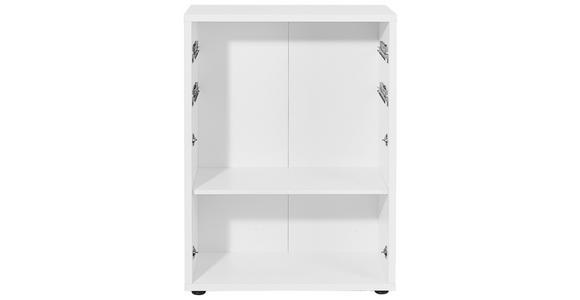 AKTENREGAL 81,8/110,5/40 cm  - Silberfarben/Weiß, KONVENTIONELL, Holzwerkstoff/Kunststoff (81,8/110,5/40cm) - Voleo