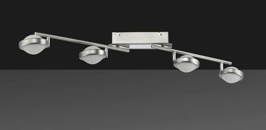 LED-DECKENLEUCHTE - Nickelfarben, LIFESTYLE, Kunststoff/Metall (85cm)