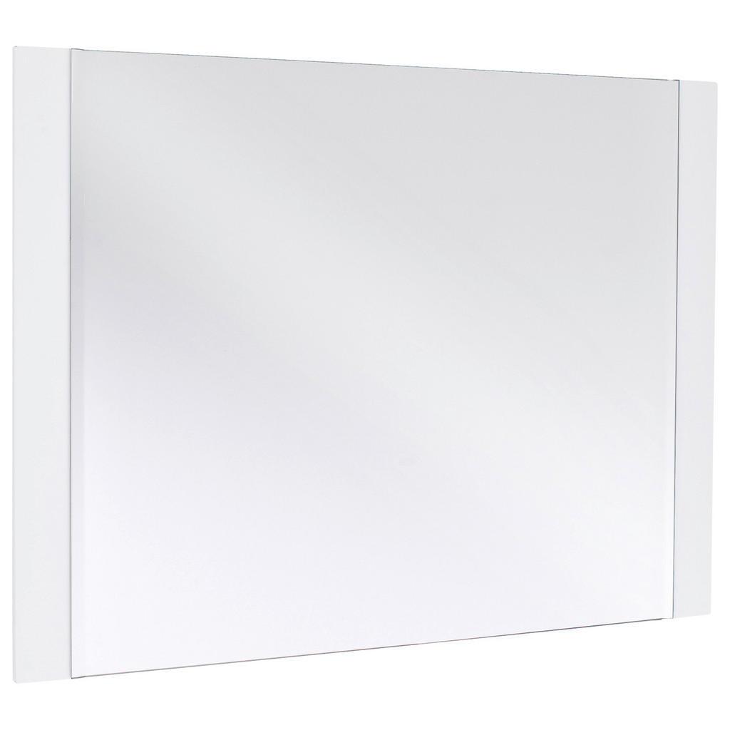 Novel Spiegel , Weiß , Glas , 90x68x2 cm , senkrecht und waagrecht montierbar , Schlafzimmer, Spiegel, Wandspiegel