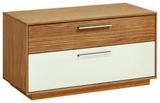 GARDEROBENBANK 86/45/40 cm - Edelstahlfarben/Eichefarben, Design, Holz/Holzwerkstoff (86/45/40cm) - Novel