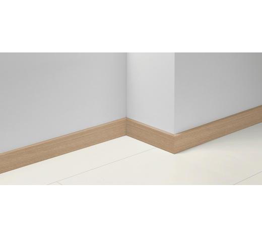 SOCKELLEISTE Weiß, Eichefarben - Eichefarben/Weiß, Basics, Holzwerkstoff (257/1,65/7cm) - Parador