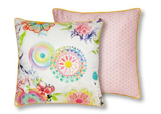 ZIERKISSEN 48/48 cm - Multicolor/Rosa, Textil (48/48cm)