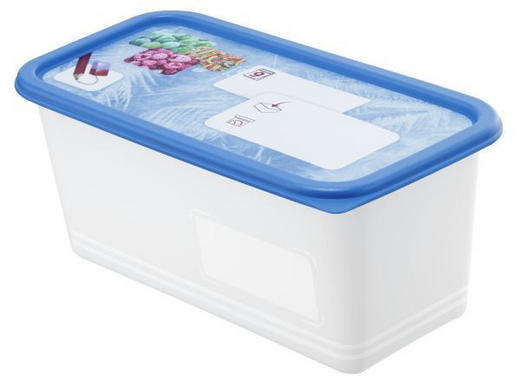 GEFRIERDOSE  1,5 - Blau, Basics, Kunststoff (23,3/11,8/13,6cm) - Rotho
