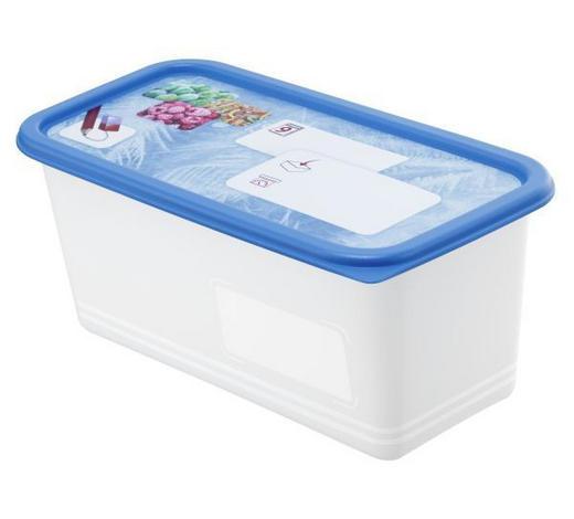 GEFRIERDOSE  1,5 L  - Blau, Basics, Kunststoff (23,3/11,8/13,6cm) - Rotho
