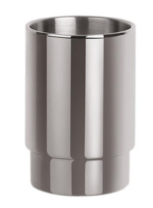 ZAHNPUTZBECHER - Edelstahlfarben, Basics, Metall (6.5/9.5cm) - SPIRELLA