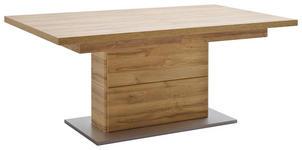 ESSTISCH in Eichefarben - Eichefarben/Silberfarben, KONVENTIONELL, Holzwerkstoff (180(280)/100/78cm) - Cantus