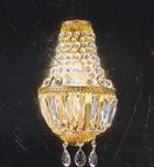 DECKENLEUCHTE - Goldfarben, Design, Metall (17/28/10cm)