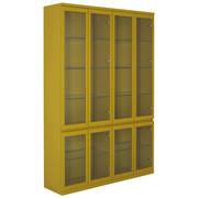 VITRINE in Dunkelgelb - Dunkelgelb, Design, Glas/Holzwerkstoff (150/219/39,6cm) - Invivus