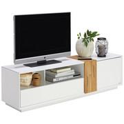 KOMODA LOWBOARD, barvy dubu, bílá - bílá/barvy dubu, Design, dřevo/kompozitní dřevo (160  cm) - Carryhome