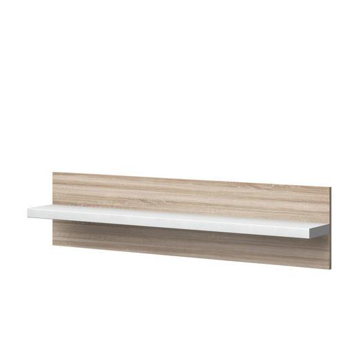 WANDPANEEL Melamin Eichefarben, Weiß - Eichefarben/Weiß, Design (132,5/32/20cm) - Xora