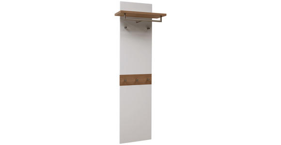 GARDEROBENPANEEL 45(60)/187/28 cm  - Eichefarben/Weiß, Design, Holz/Holzwerkstoff (45(60)/187/28cm) - Dieter Knoll