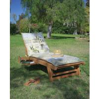 GARTENLIEGE - Naturfarben, Design, Holz (74/87(56)/195,5cm) - Ambia Garden