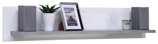 WANDBOARD Toronto - Hellgrau/Weiß, MODERN, Holzwerkstoff (125/25/21cm) - Ombra