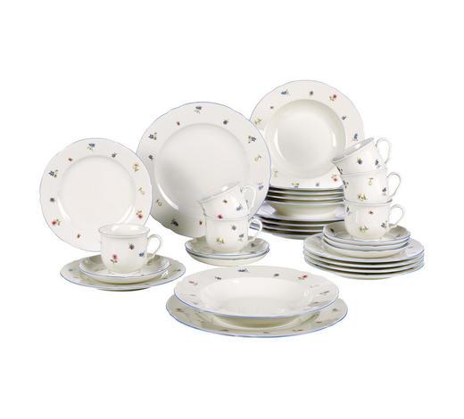 SERVIS KOMBINOVANÝ, 30dílné, porcelán - krémová, Basics, keramika - Seltmann Weiden