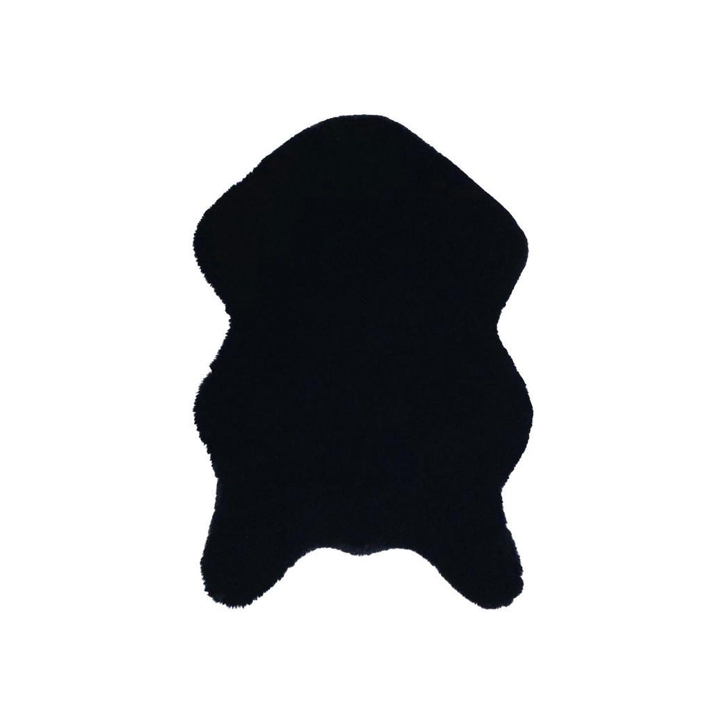 Umělá Kožešina 60/90 Cm Černá Novel - černá