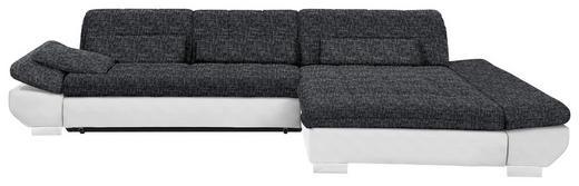 WOHNLANDSCHAFT in Textil Anthrazit, Weiß - Chromfarben/Anthrazit, Design, Kunststoff/Textil (341/204cm) - Xora