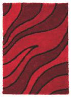 TEPIH VISOKOG FLORA - crvena, Basics, tekstil (120/170cm) - NOVEL