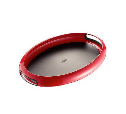 TABLETT Metall  - Rot/Schwarz, Basics, Metall (50/35/5,3cm) - Wesco