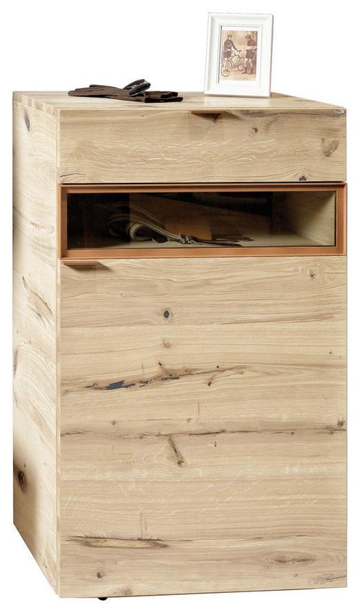 SCHUHSCHRANK - Eichefarben/Kupferfarben, Design, Glas/Holz (64,2/109,1/42,3cm) - Voglauer