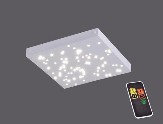 LED-DECKENLEUCHTE - Weiß, Design, Metall (30/30/3,5cm)