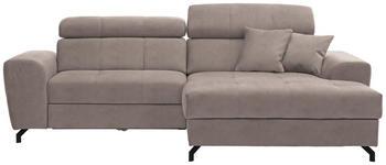 WOHNLANDSCHAFT in Textil Beige  - Beige/Schwarz, MODERN, Textil/Metall (267/181cm) - Carryhome