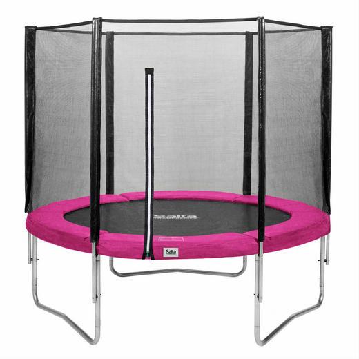 TRAMPOLIN SALTA COMBO Pink, Schwarz - Pink/Schwarz, Trend, Kunststoff/Metall (305cm)