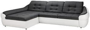 SOFFA - vit/mörkgrå, Design, textil/plast (290/76/190cm) - Carryhome
