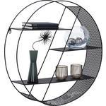 WANDREGAL Schwarz  - Schwarz, Design, Metall (60/60/15cm) - Carryhome