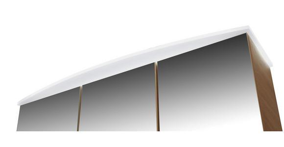 Spiegelschrank mit Soft-Close + Led Avensis B : 75cm - Klar/Eichefarben, MODERN, Glas/Holzwerkstoff (75/73/20,5cm) - Luca Bessoni