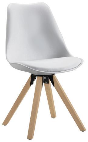 STOL - vit/ekfärgad, Design, metall/trä (48/82/56cm) - Carryhome