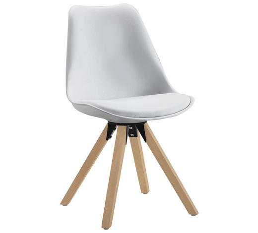STUHL in Holz, Metall, Kunststoff, Textil Weiß, Eichefarben - Eichefarben/Weiß, Design, Holz/Kunststoff (48/82/56cm) - Carryhome